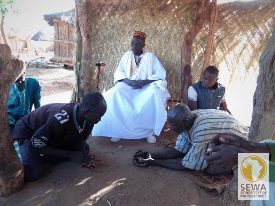 Besuch beim Chef du Village von Oualga